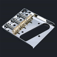 Chrome 3 Copper Saddle Ashtray Bridge For Telecaster Tele Electric Guitar LD