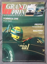 1986 MAY GRAND PRIX INTERNATIONAL MAGAZINE F1 GERHARD BERGER SAFARI BRAZIL SPAIN