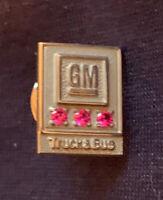 General Motors Award Pin 10k And Three Rubies