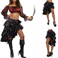 Sexy Womens Burlesque Moulin Rouge Party TUTU Ruffled Bustle Skirt Size UK 6-16
