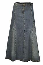 Clove a Line Blue Stretch Denim Knee Length Skirt Plus Size 14 16 18 20 22 24 14