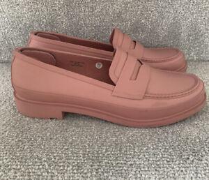 Womens Rose Pink Hunter Wellie Loafer Shoes UK 6 Eu 39