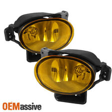 Fits 07-08 Tl Base Type S JDM Yellow Bumper Fog Lights Lamp Replacement W/Bulbs