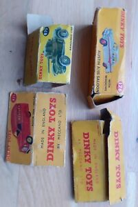 Dinky Toys Original Empty Boxes For Restoration Or Spare Parts