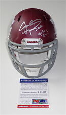 "JOHNNY MANZIEL SIGNED ""GIG 'EM!"" TEXAS A&M CUSTOM #2 MINI HELMET PSA COA R83438"