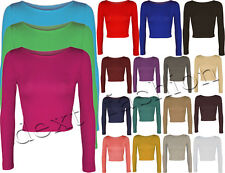 Unbranded Cropped Solid Tops & Shirts for Women