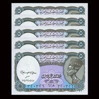 ND Pick 189a 5 x 10 Piastres Egypt LOT 1998 1999 UNC