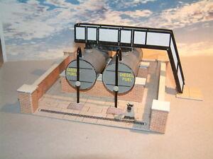 Diesel Fuel Oil Storage Tanks Self Assembly Card Kit 00 Gauge Lots of Detail