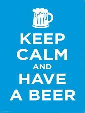 Keep Calm y tener un signo de Aluminio de Metal Cerveza Bar Pub, Cueva de hombre cerveza signos Cobertizo