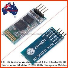 HC-06 Arduino Wireless Serial 4 Pin Bluetooth RF Transceiver Module RS232 - NEW-