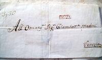 1814 PREFILATELICA A VENEZIA DA CREMA CON TIMBRO IN CARTELLA 'CREMA'