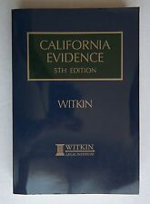 California Evidence 5th Edition Supplemental Paperback Volume 4 by Witkin