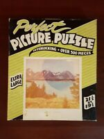 """Vintage PERFECT Picture Jigsaw Puzzle """"Grand Tetons"""" COMPLETE"""