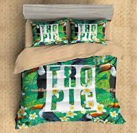 3D Toucan,Tropical Plants Quilt Cover Set Bedding Duvet Cover Single/Queen/King7