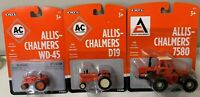 ALLIS- CHALMERS DIE- CAST 1/32 SCALE WD-45, D19, AND 7580 SET