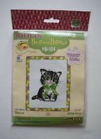 Little Bow Kitten Counted Cross Stitch Kit 6x7 Riolis KIDS OR BEGINNERS