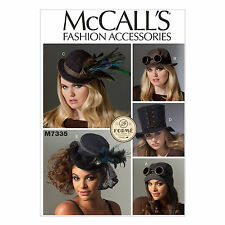 McCall's 7335 Paper Sewing Pattern to MAKE Steampunk Top Hat Aviator Millinery