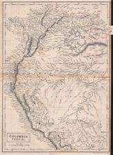 Colombia Perú Nueva Granada Ecuador Venezuela. andino Estados. Britannica 1860 Mapa