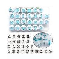 Alphabet Letters Number Push Cutters Fondant Cake Decorating Set Cookie Mould hj