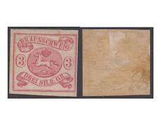 BRAUNSWICK stamps 1853, 3 SILBERGROSCHEN rose imperf. Un.10 MM (F105)