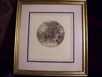 """The Return Home Hunting Print William Joseph Shayer 20 x 20"""" Framed with Glass"""