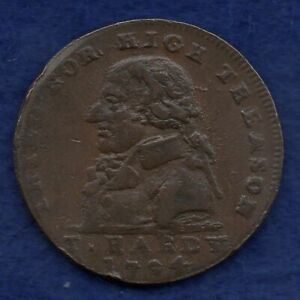 Great Britain, Middlesex, T Hardy 1794 Halfpenny Token (Ref. c8301)