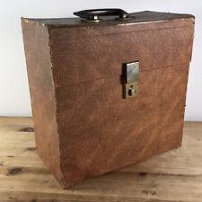 Winel Vintage 12 Inch LP Record Case Faux Skin Textured Mid Century Retro Box