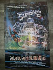 SUPERMAN III Reeve Pryor 1983 Affiche Originale USA Print 70x100 Movie Poster