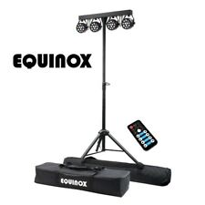 Equinox MicroPar Bar System All-in-One T-Bar LED DMX Par DJ Disco Lighting Kit