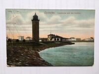 AK Cuxhaven Alte Liebe Hafen Cuxhafen Feldpost Karte Marineschiffspost Leuchttur