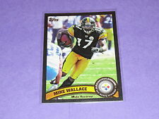 2011 Topps MIKE WALLACE #436 Black Variant/55 Steelers-Vikings / OLE MISS Rebels