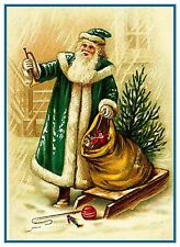 Victorian Father Christmas Santa Claus # 706 Counted Cross Stitch Pattern