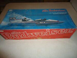 1/25 TESTORS MISS BUDWEISER HYDROPLANE UNBUILT PLASTIC MODEL KIT 1978 ISSUE