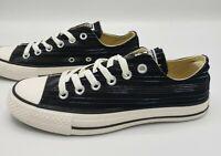 Converse All Star Ox Black Striped Women's Size 5.5