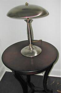 Silver Metal Shade Touch Lamp - Metal Mushroom Shade - 3 Way Table Lamp