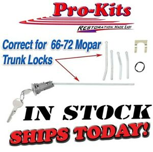 Fits 66 67 68 69-72 Key Trunk Lock Charger Roadrunner Dart Duster A B body NEW