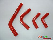 for Honda CRF250 CRF250X CRF250R 04-09 05 06 07 08 silicone radiator hose red
