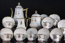 Porcelaine de Limoges, service à café, époque Napoléon III