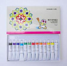 13 Colors Set (7.5ml x 13) Vivid Fabric Textile Dyeing Paint Deco Art Water Inks
