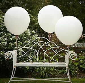 HUGE WHITE 36 INCH BALLOONS 3pk Wedding Venue Decoration Giant Balloon Big Party