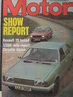 Motor magazine 30/10/1976 featuring Renault 20 road test, Chrysler Alpine
