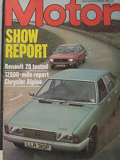 Motor magazine 30 October 1976 featuring Renault 20 road test, Chrysler Alpine