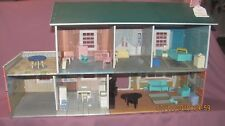 MARX TIN DOLL HOUSE - 1/16 SIZE, harder to find; includes A LOT of furniture