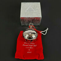 Wallace 2000 Silver Plated Sleigh Bell Christmas Ornament 30th Edition Annual