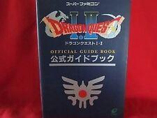 Dragon Warrior(Quest) I II 1 2 official guide book / Super Nintendo, SNES