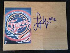 LYNETTA KIZER Signed WNBA Floor Tile INDIANA FEVER Basketball FREE SHIPPING