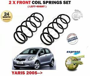 FOR TOYOTA YARIS 1.0 1.3 VVTI 1.4 D4D 2005->NEW 2 X FRONT COIL SPRINGS SET