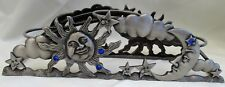 Spoontiques Pewter Sun & Moon 3 Tealight Candle Holder W / Rhinestones
