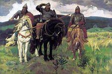 Viktor Vasnetsov Die drei Bogatyr ART Canvas print