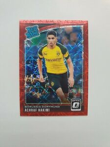 2018-19 DONRUSS SOCCER ACHRAF HAKIMI RATED ROOKIE OPTIC RED VELOCITY /50